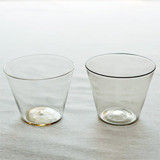 [WASHIZUKA GLASS STUDIO]clear/smoke cup short