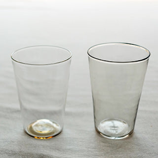 [WASHIZUKA GLASS STUDIO]clear/smoke cup long