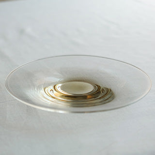 [WASHIZUKA GLASS STUDIO]clear dish large