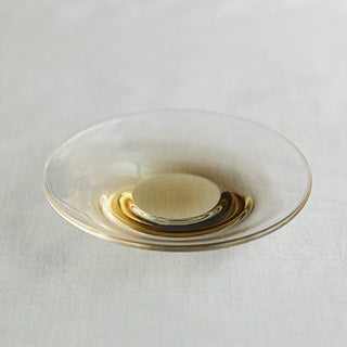 [WASHIZUKA GLASS STUDIO]clear dish small