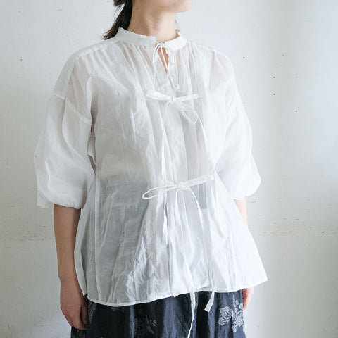 [the last flower of the afternoon]靄然のballoon sleeve blouse B