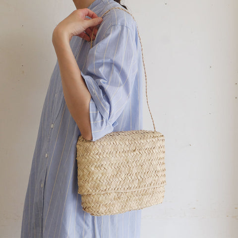 【かご展】[CASTELLA NOTE]Palm Basket pochet slim