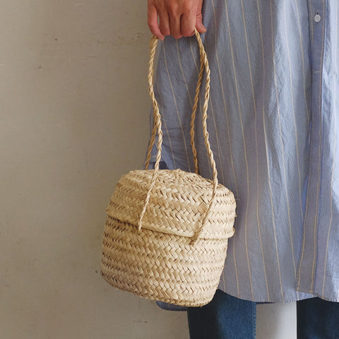 【かご展】[CASTELLA NOTE]Palm Basket rudondo