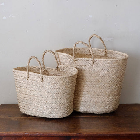 [CASTELLA NOTE]Palm Basket Tote