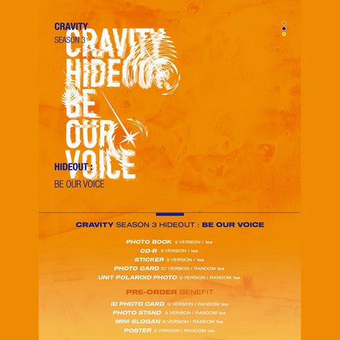 CRAVITY - SEASON 3 - HIDEOUT: BE OUR VOICE