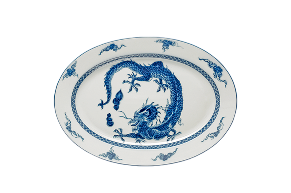 Blue Dragon Oval Platter