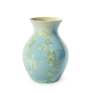 Medium Curio Crystalline Vase Jade