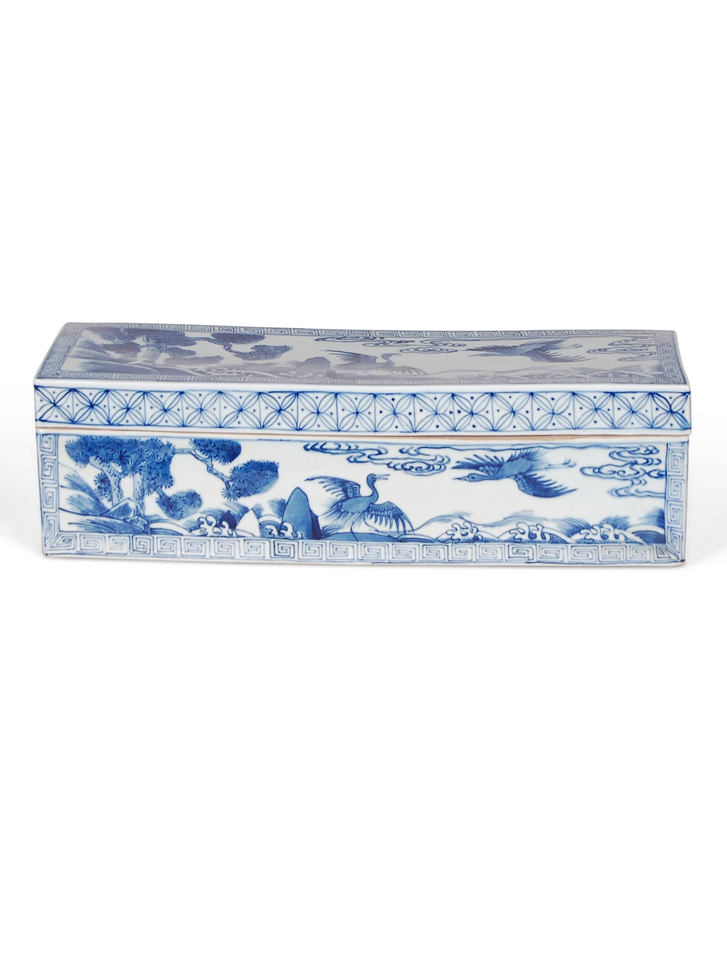 Blue & White Bird and Flower Reproduction Box