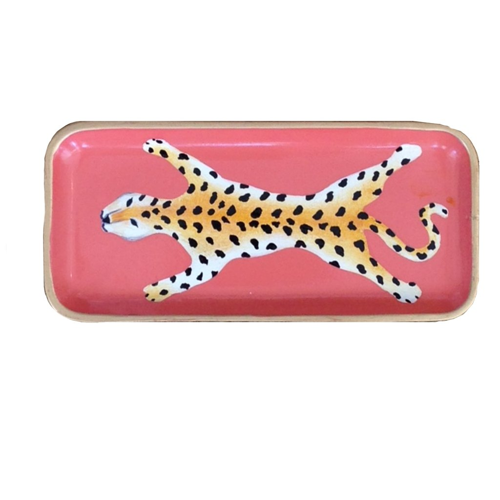 Leopard Tray in Orange