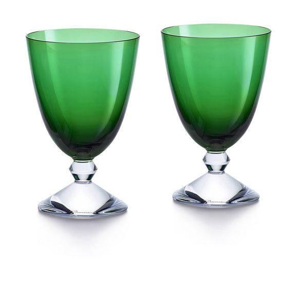 Vega Small Green Glass, Set of 2