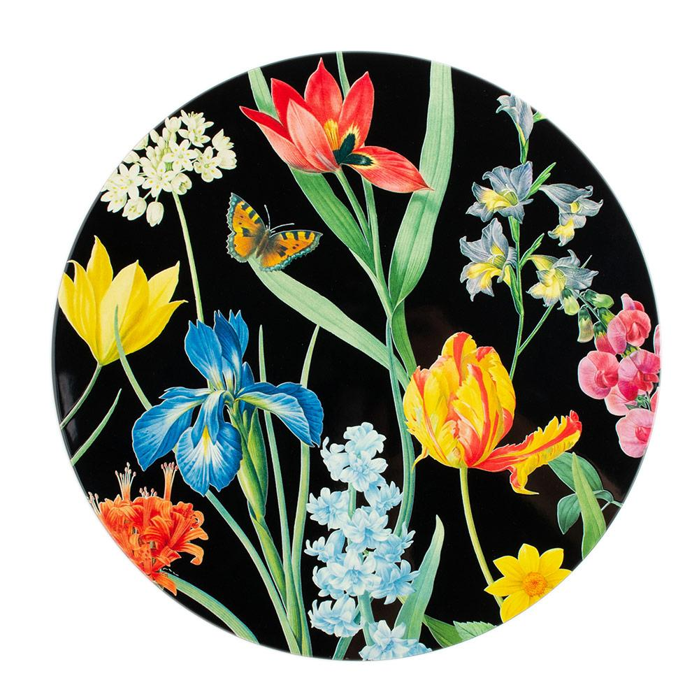 Redoute Floral Lacquered Round Placemat