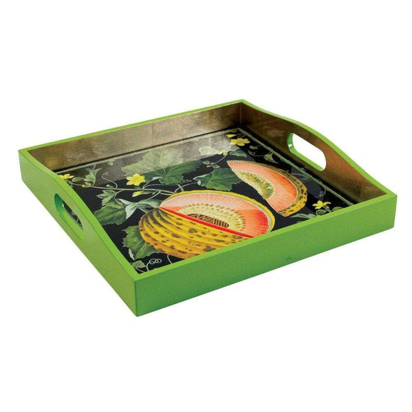 Brookshaw Melons Lacquered Square Tray