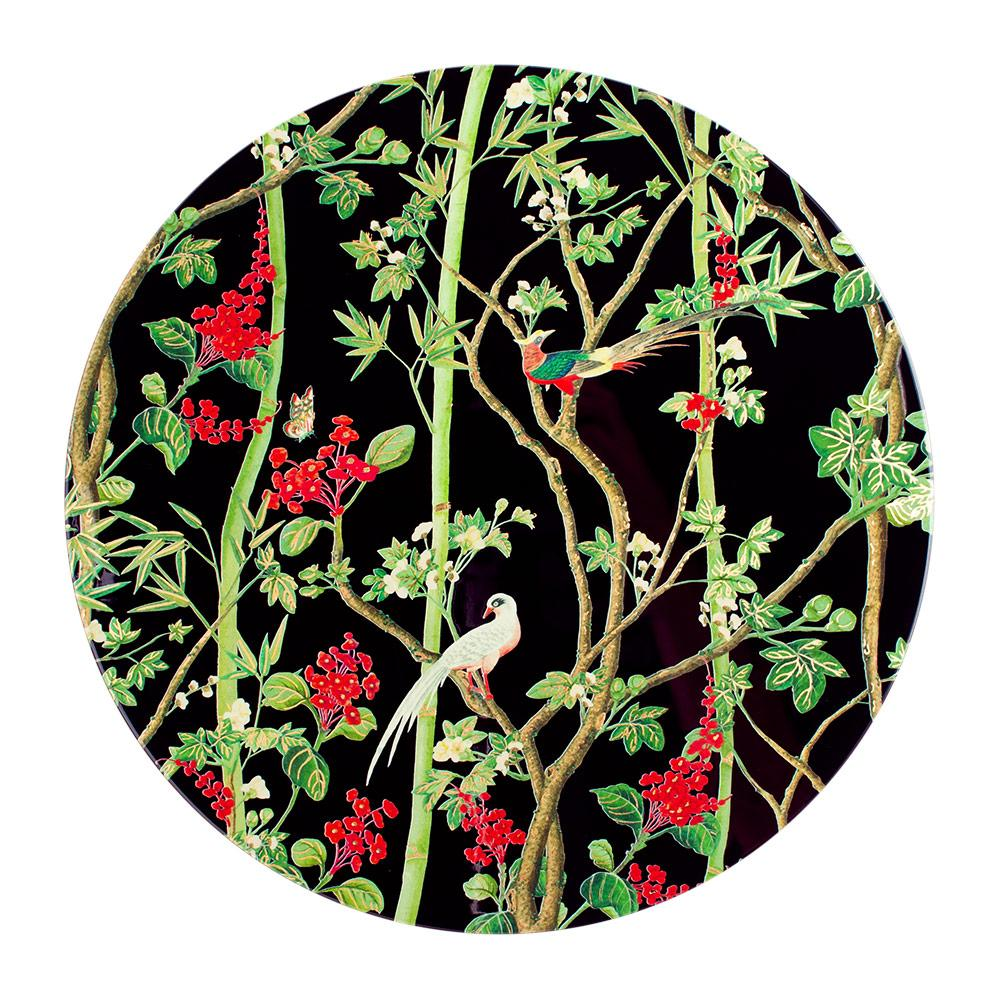 Scots Wallpaper Lacquered Round Placemat