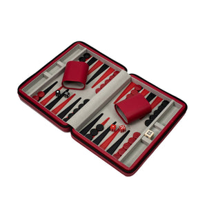 Travel Backgammon Set, Red