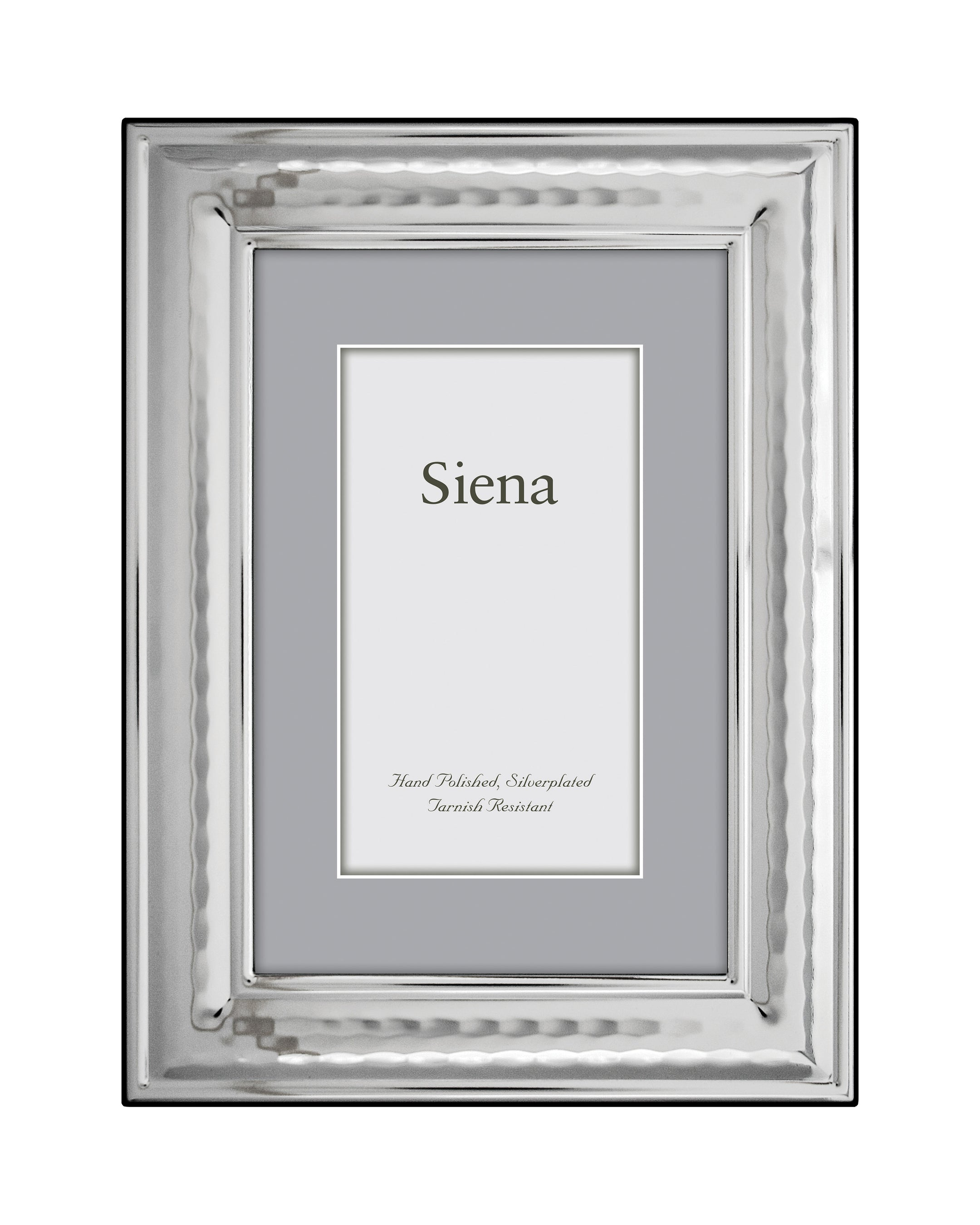 Siena Hammered Silverplate Frame