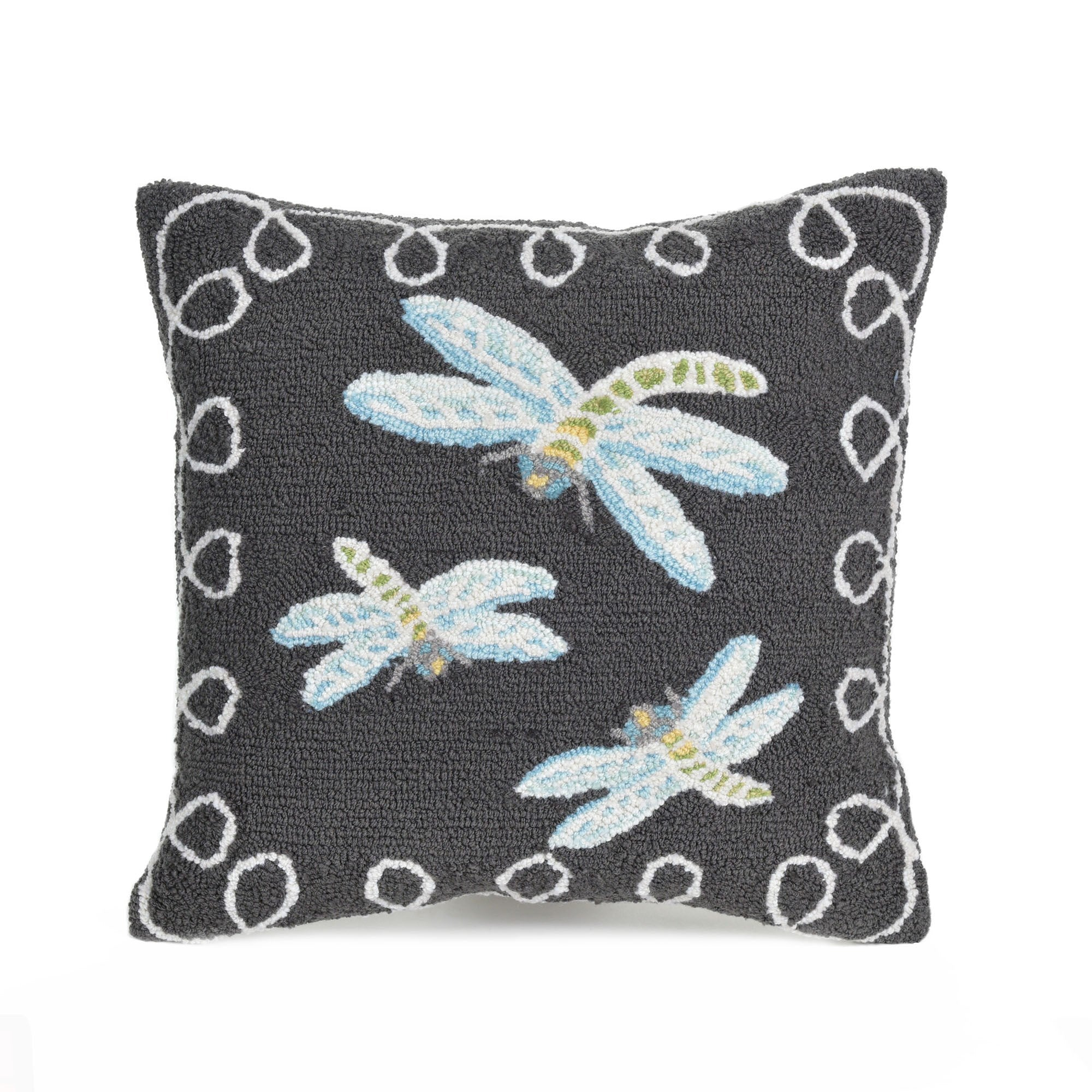 "Dragonfly Midnight 18"" Square Pillow"