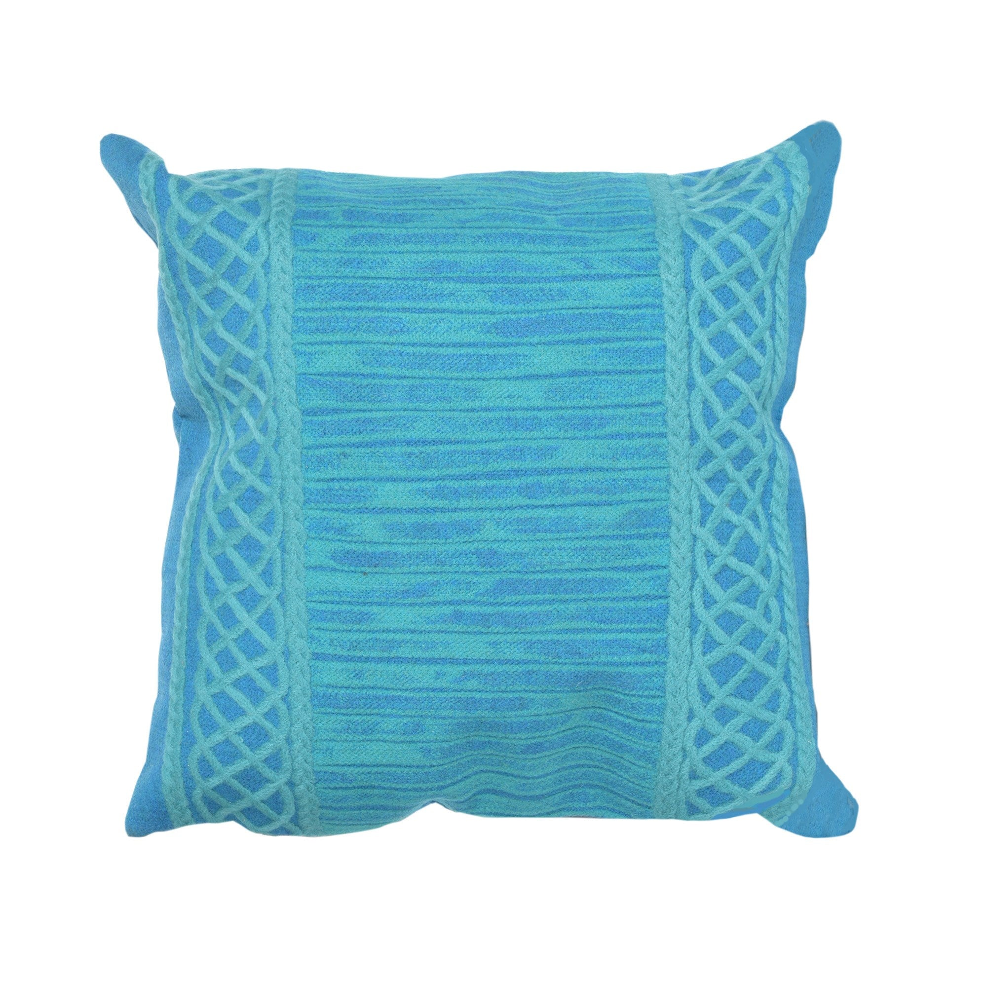 Celtic Stripe Pillow, Emerald