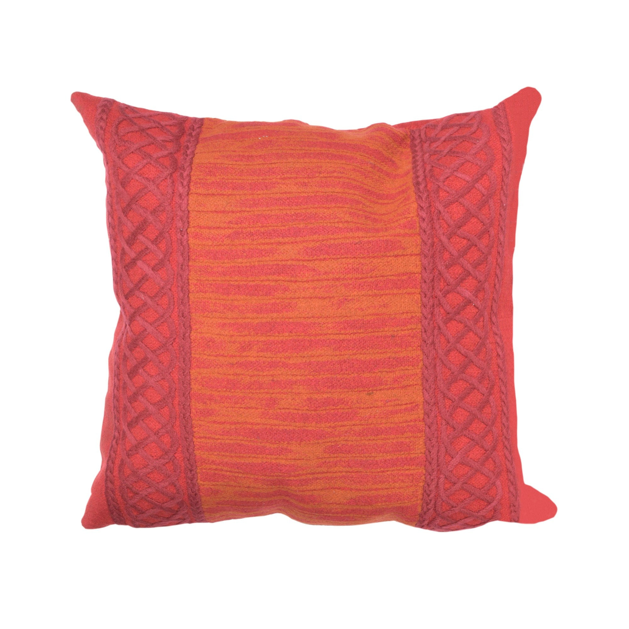Celtic Stripe Pillow, Saffron