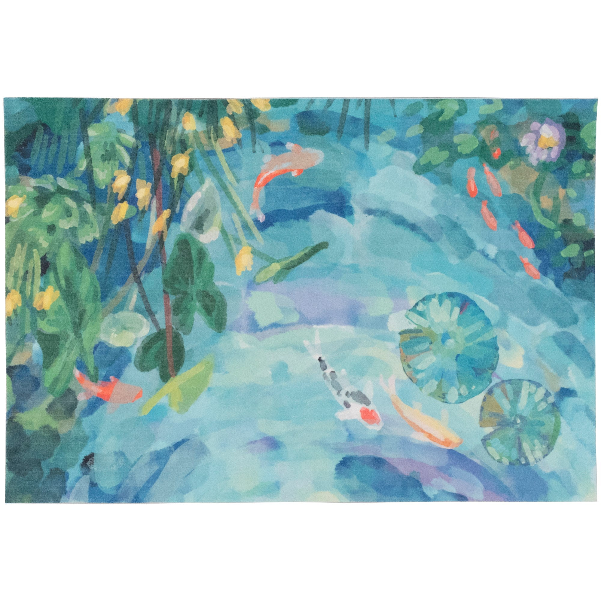 Peaceful Pond Seafoam Mat 23x35