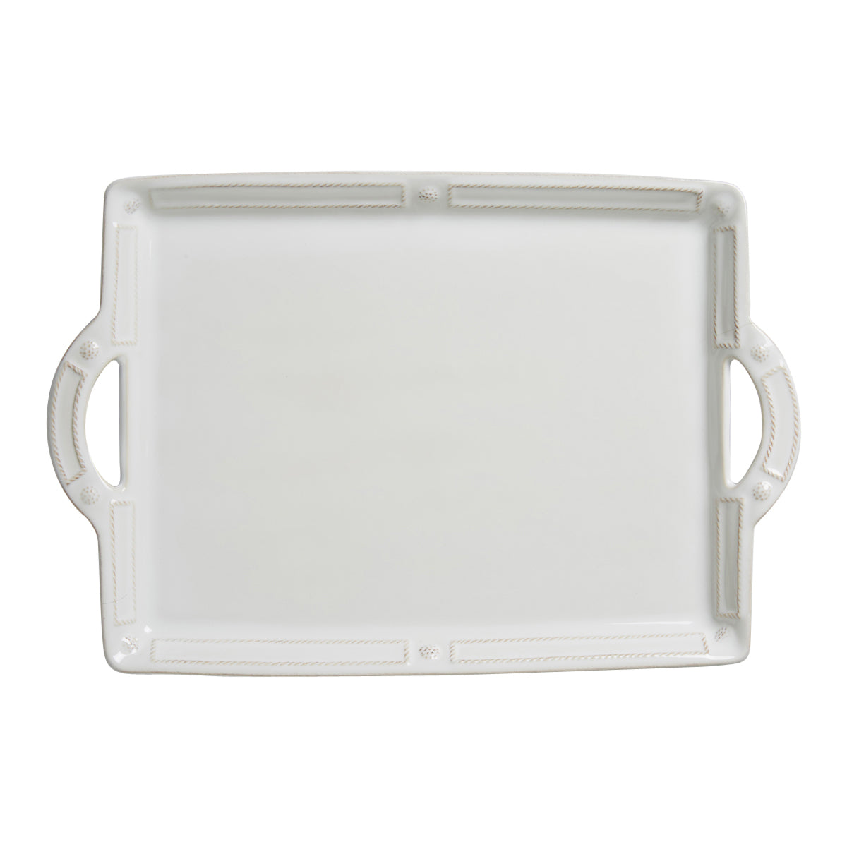 B & T French Panel Whitewash Serveware