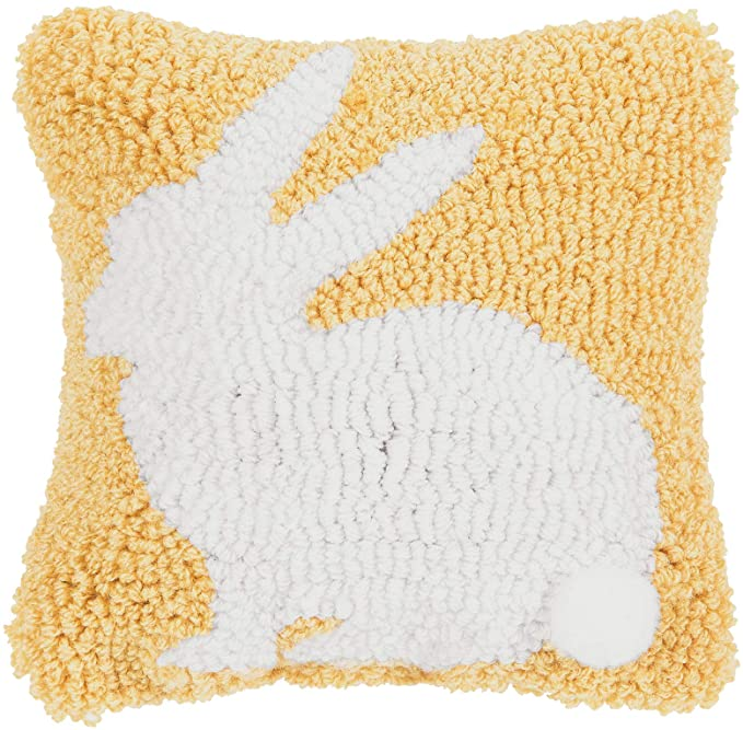 Yellow Bunny Pillow