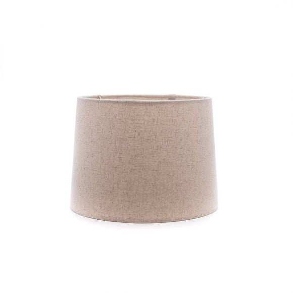Linen Barrel Shade, Natural