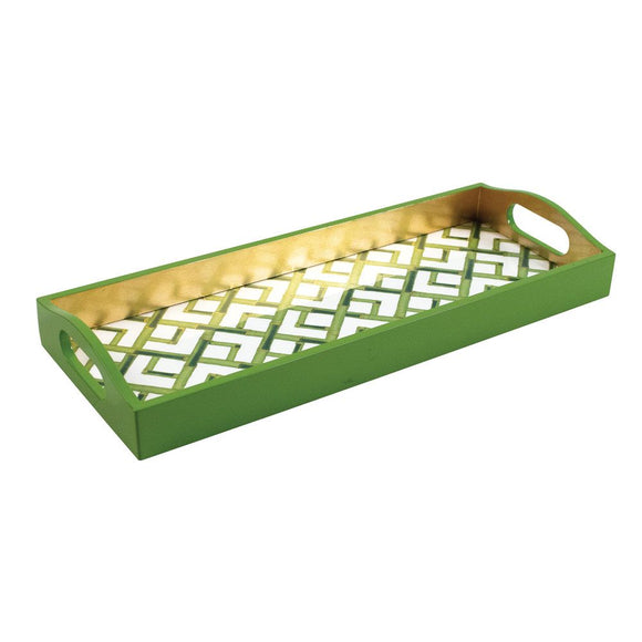Bamboo Lacquered Bar Tray, White