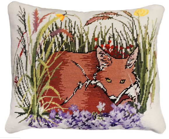Fox & Violets Pillow