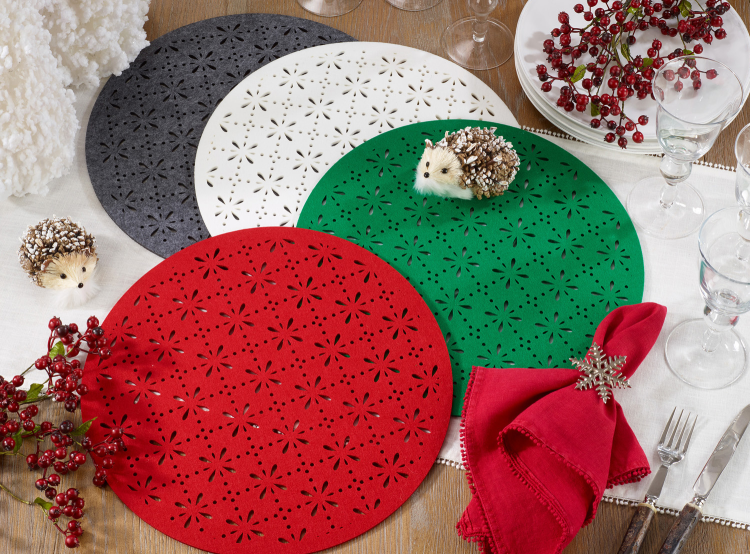 Cutwork Felt Placemat- Red