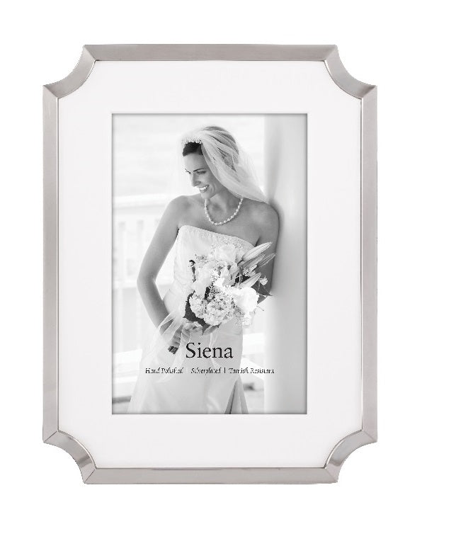 "Siena 5"" x 7"" Silverplate Frame"