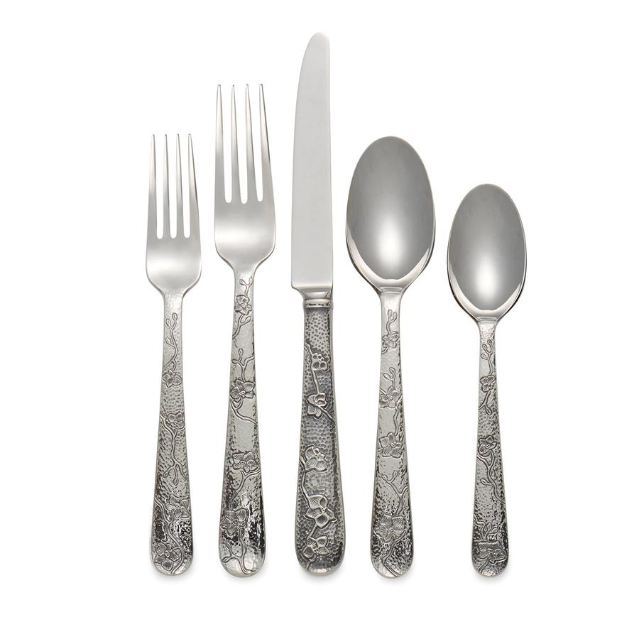 Black Orchid 5-Piece Flatware Set