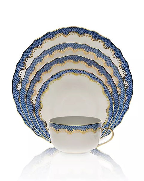 Blue Fish Scale Dinnerware