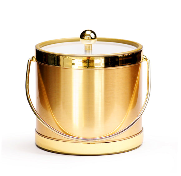 Brushed Gold, 3 QT Ice Bucket