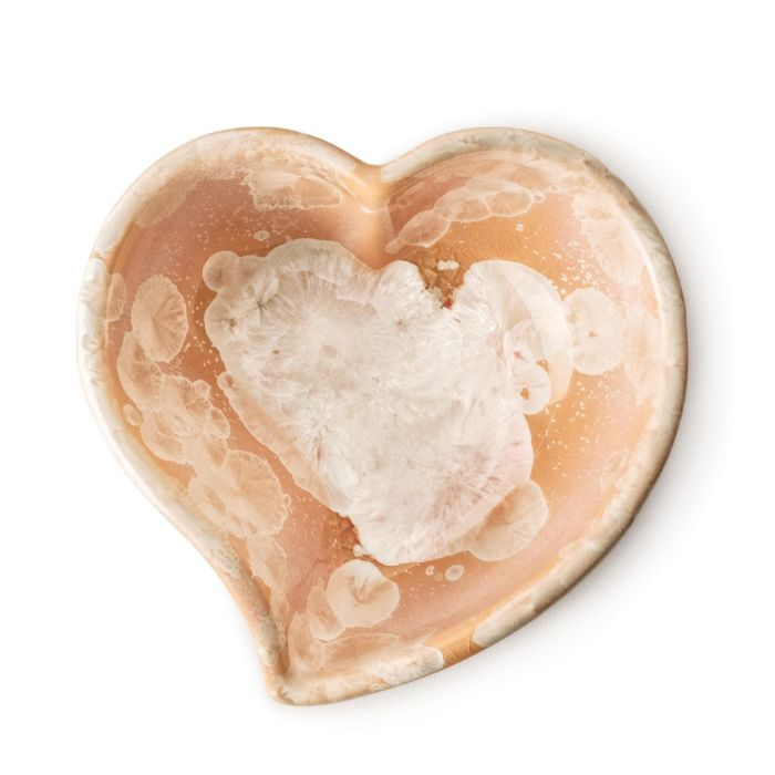 Crystalline Twist Heart Bowl Sunset