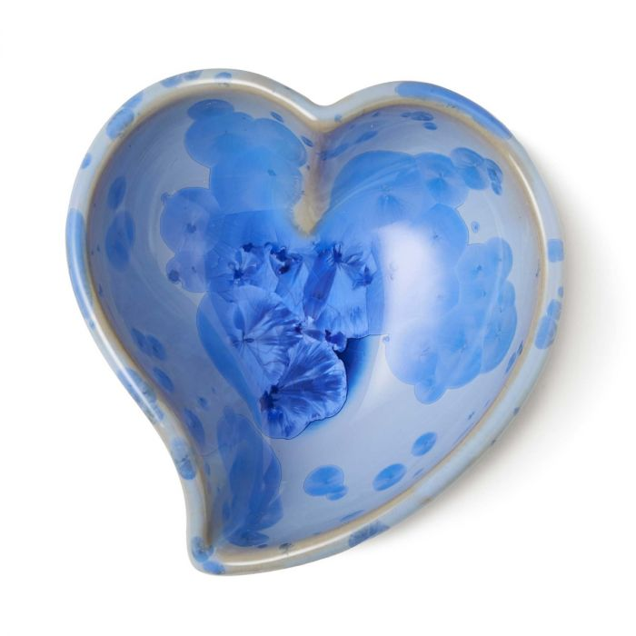 Crys Twist Heart Bowl Cobalt