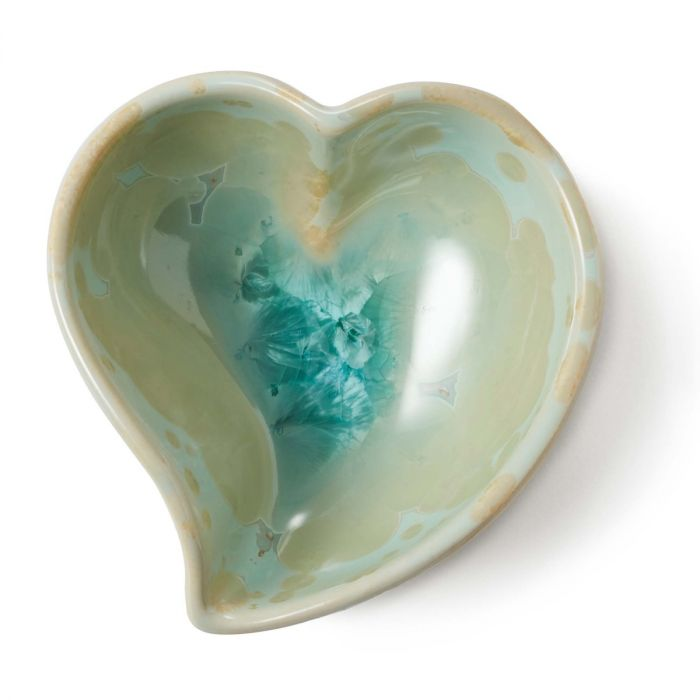 Crystalline Twist Heart Bowl Jade