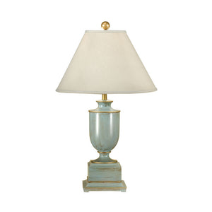 Old Washed Urn Lamp & Shade