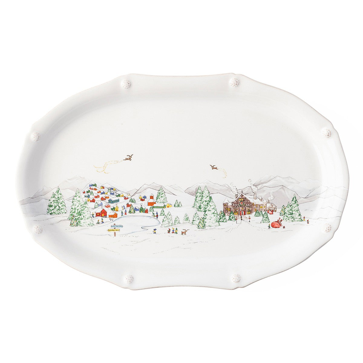 "17"" Platter B&T North Pole"