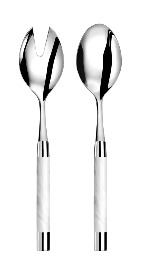 Conty Salad Serving Set, White