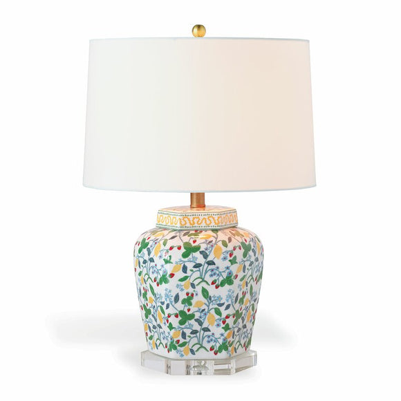 Crewel Summer Lamp w Shade