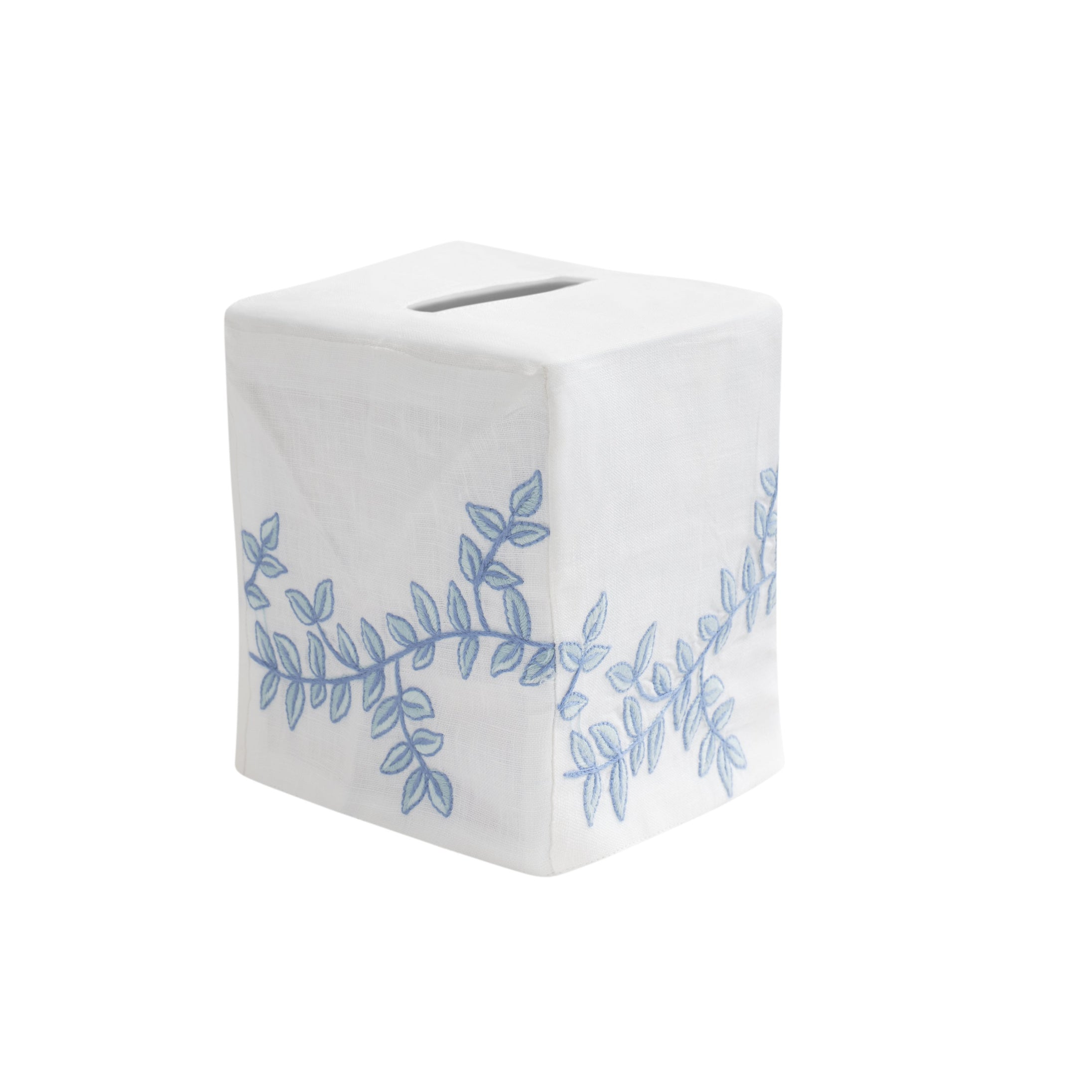 Greenwich Vine Tissue Box Cover, Blue