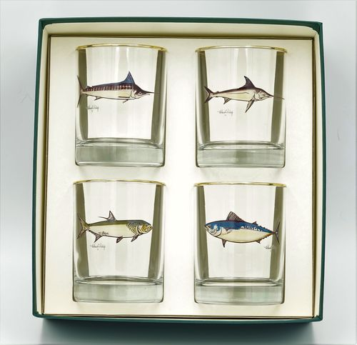 Game Fish DBL Old Fashioned, Set of 4