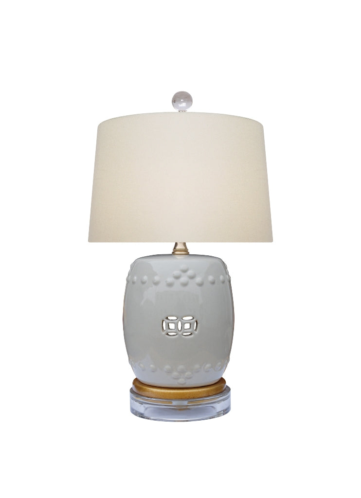 Gray Drum Lamp