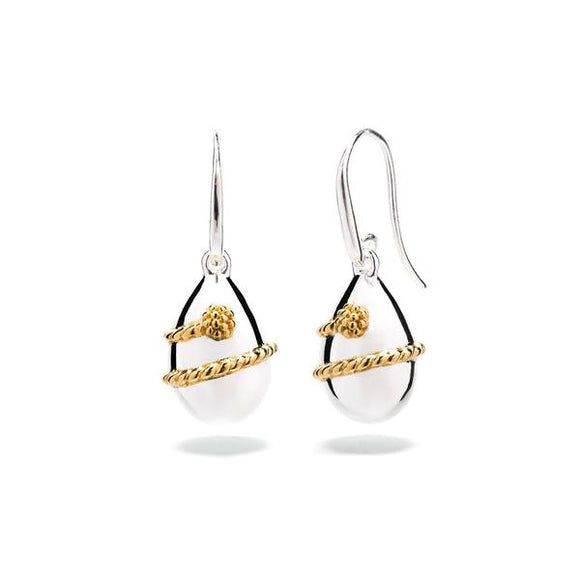 Lily Drop Earrings, Gold/Silver