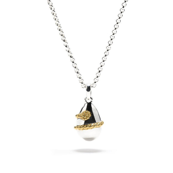 Lily Petite Drop Pendant, Gold/Silver