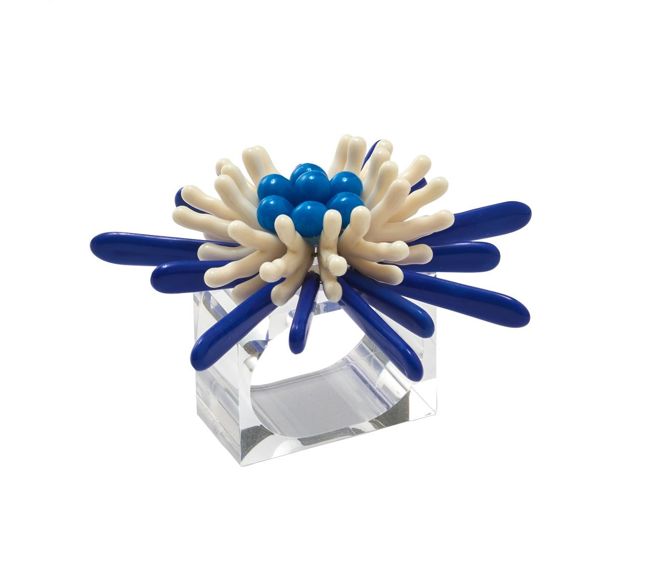 Napkin Ring Capri, Navy & White