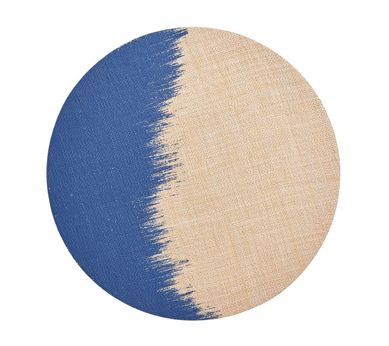 Brushstroke Placemat, Natural & Navy