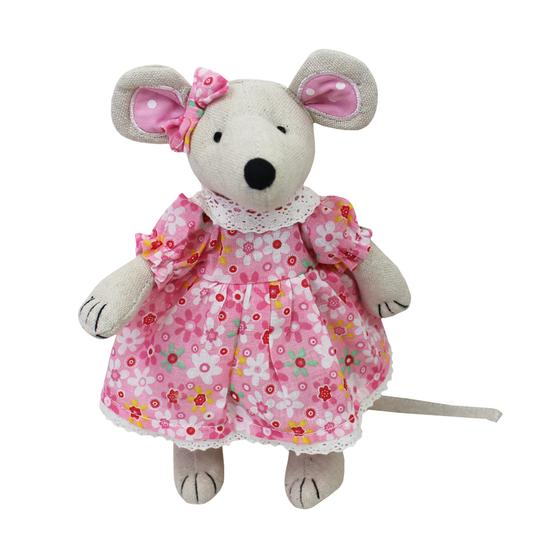 Mouse w/ Pink Floral Dress