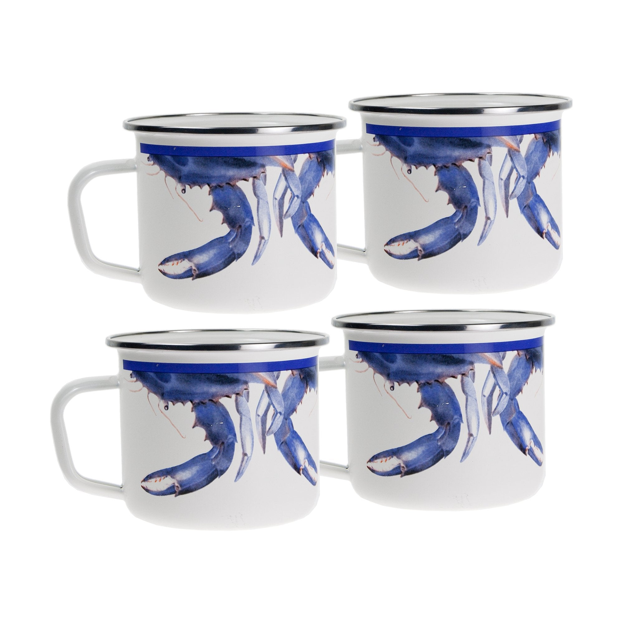 Blue Crab Grande Mugs S/4