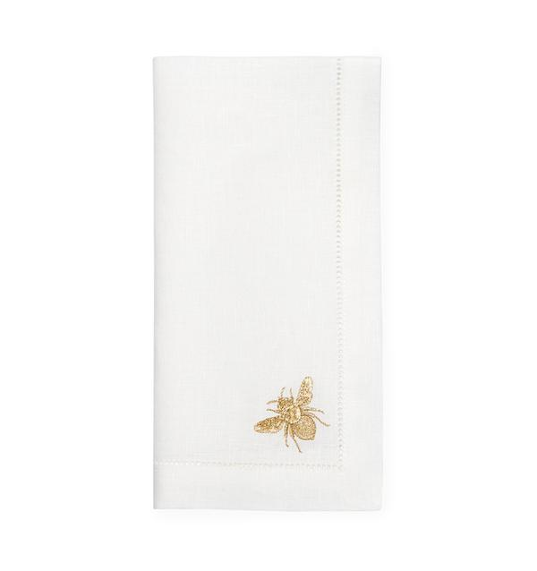 Bombo White Gold Dinner Napkins, Set of 4